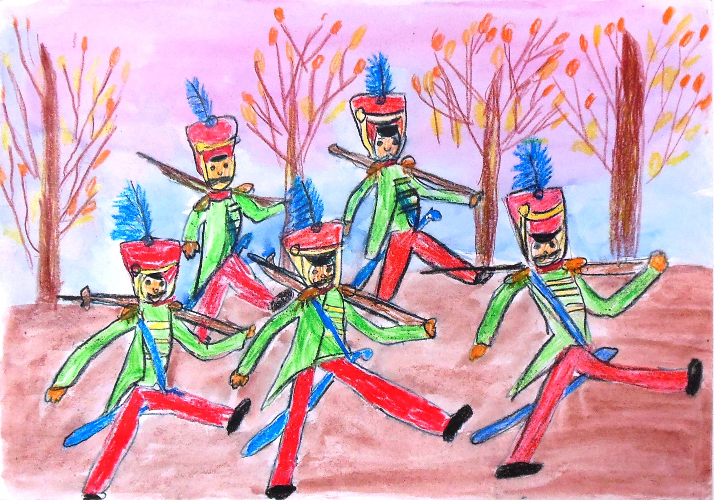 Марш оловянных солдатиков рисунок